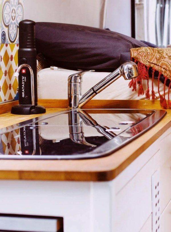 Installation katadyn, Katadyn combi installé, fourgon aménagé
