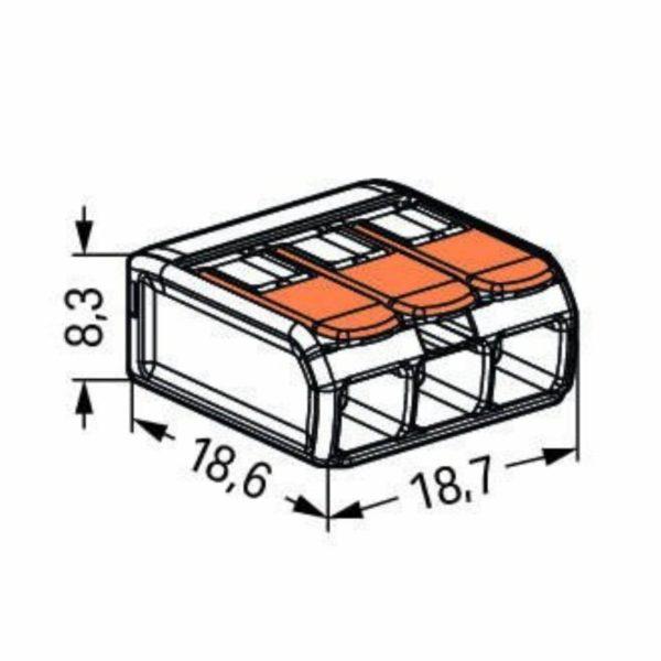 Dimensions WAGO 221-413