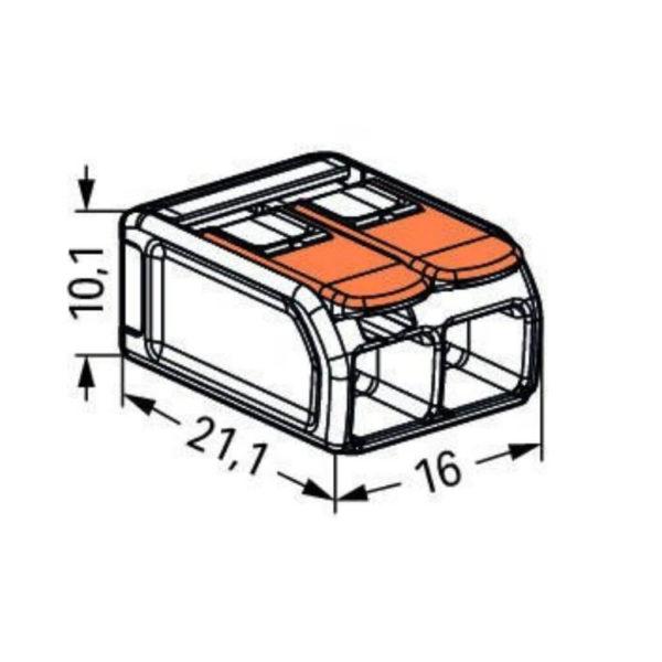 WAGO 221-612, dimensions