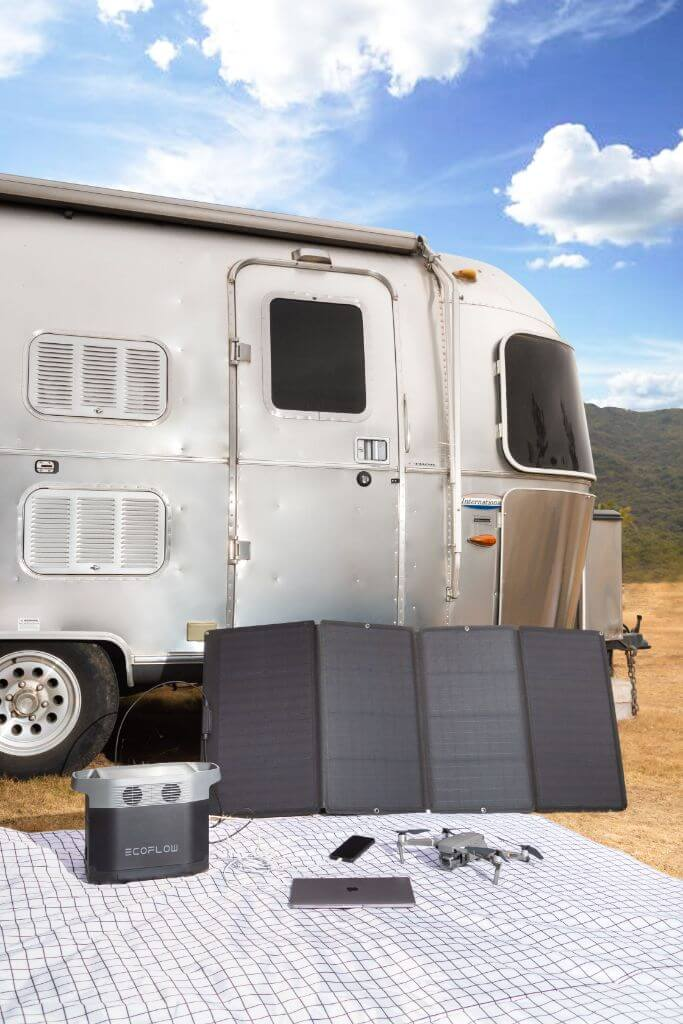 Airstream, Ecoflow Delta, Panneau solaire