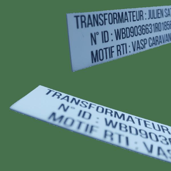 Gravure étiquette vasp