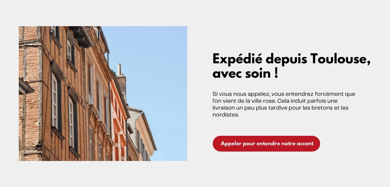 Expédition depuis Toulouse