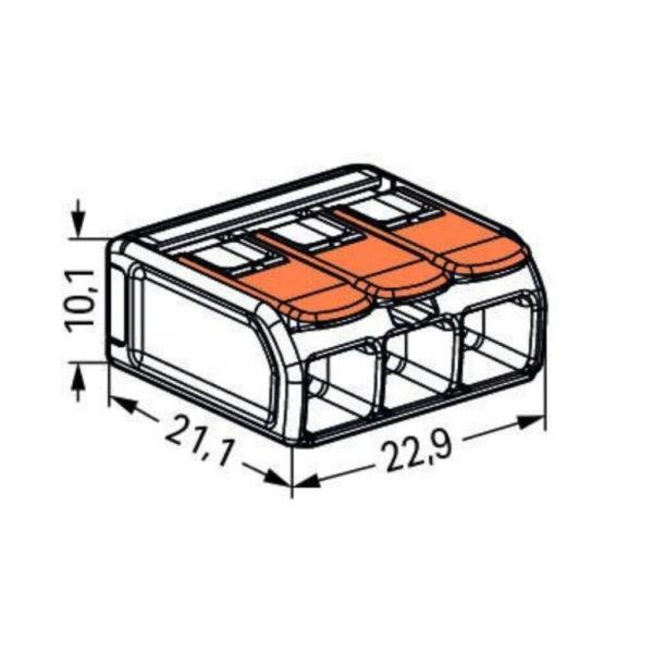 Dimensions, WAGO, 221-613
