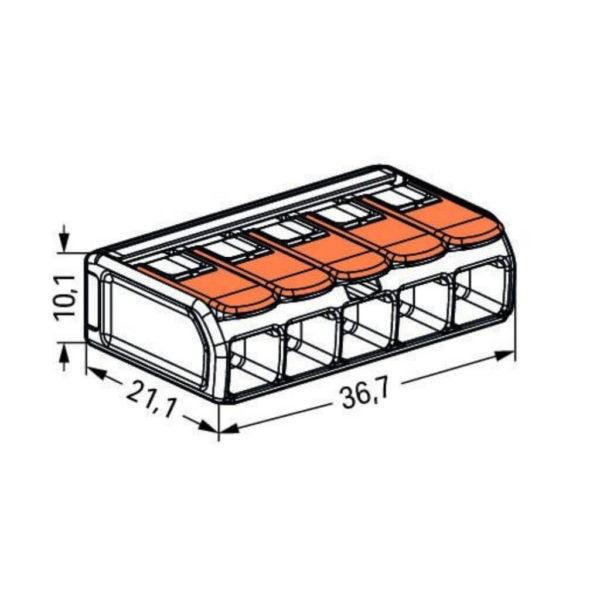 dimensions, wago, 221-615